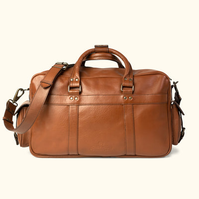 Men's Classic Leather Pilot Bag - Large | Amber back
