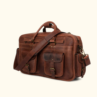 Classic Leather Pilot Bag - Large | Dark Oak turned