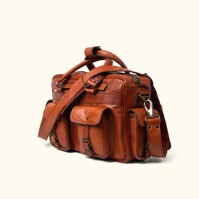 Roosevelt Buffalo Leather Pilot Bag | Limited Edition - Cedar hover