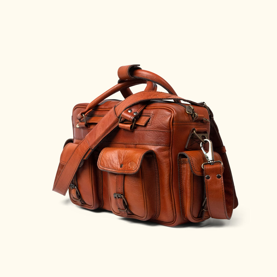 Roosevelt Buffalo Leather Pilot Bag | Limited Edition - Cedar