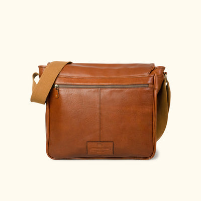 Buffalo Leather Messenger Bag back