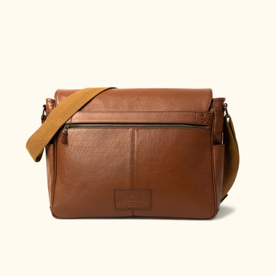 Leather Satchel Bag - Large | Amber back