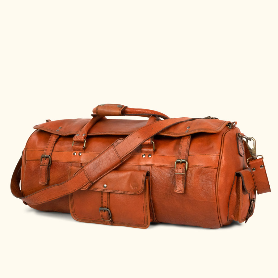 Roosevelt Buffalo Leather Travel Duffle Bag - Limited Edition | Cedar
