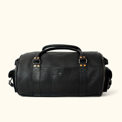 Ryder Reserve Bison Leather Travel Duffle Bag | Black