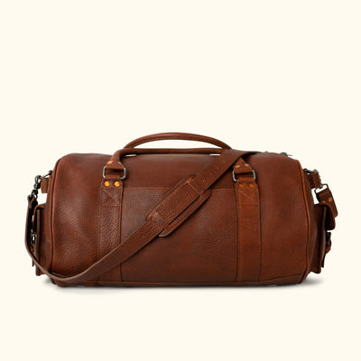 Ryder Reserve Bison Leather Travel Duffle Bag | Brown