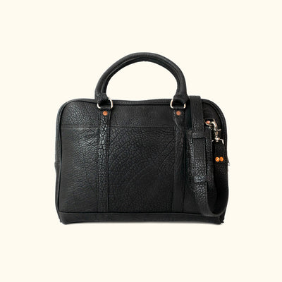 Ryder Reserve Bison Leather Laptop Briefcase | Black
