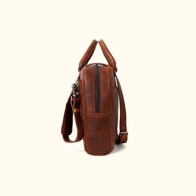 Ryder Reserve Bison Leather Laptop Briefcase | Brown