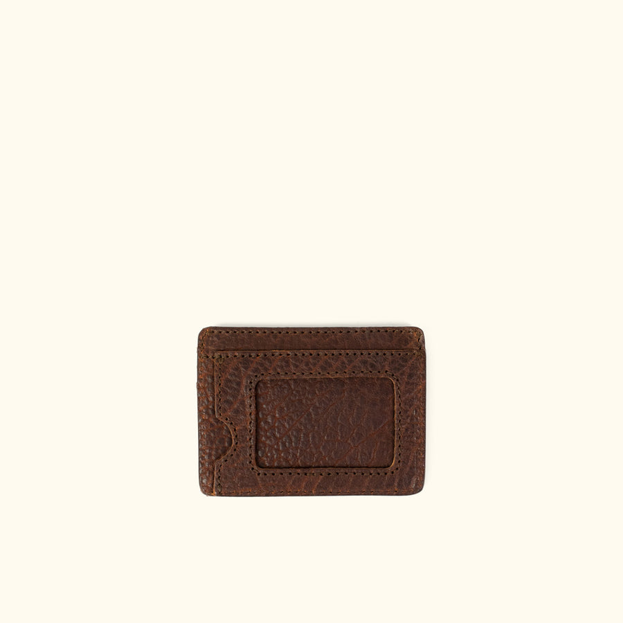 Ryder Reserve Bison Leather Slim ID Wallet | Brown