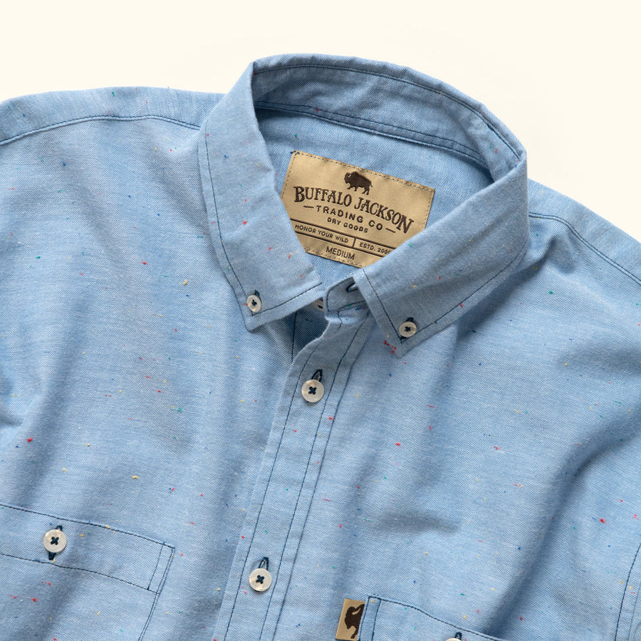 Men's Classic Button Down shirt for fall with specks