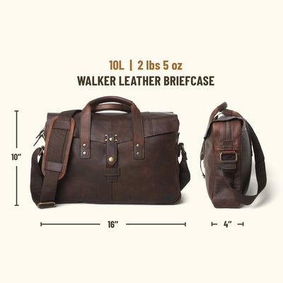 Walker Leather Briefcase Bag | Vintage Oak