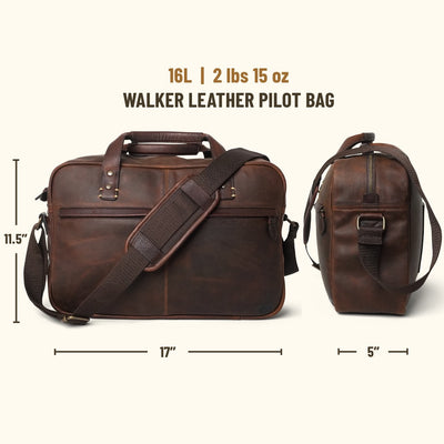 Walker Leather Pilot Bag | Vintage Oak
