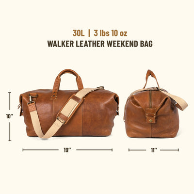 Walker Leather Weekend Bag | Rustic Tan