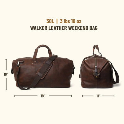 Walker Leather Weekend Bag | Vintage Oak