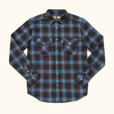 Men's Rugged Wool Blend fall flannel shirt
