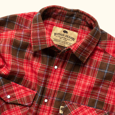 Men's Yosemite Wool Flannel Shirt Vintage red