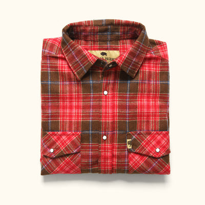 Men's Tough Wool Flannel Work Shirt