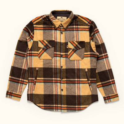 mens rugged wool shirt jac aspen sky