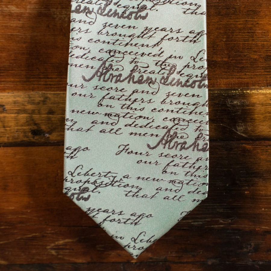 The Gettysburg Address - Abraham Lincoln - Blue - Necktie