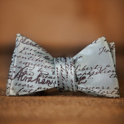 Gettysburg Address - Abraham Lincoln - Blue - Bow Tie - Label View