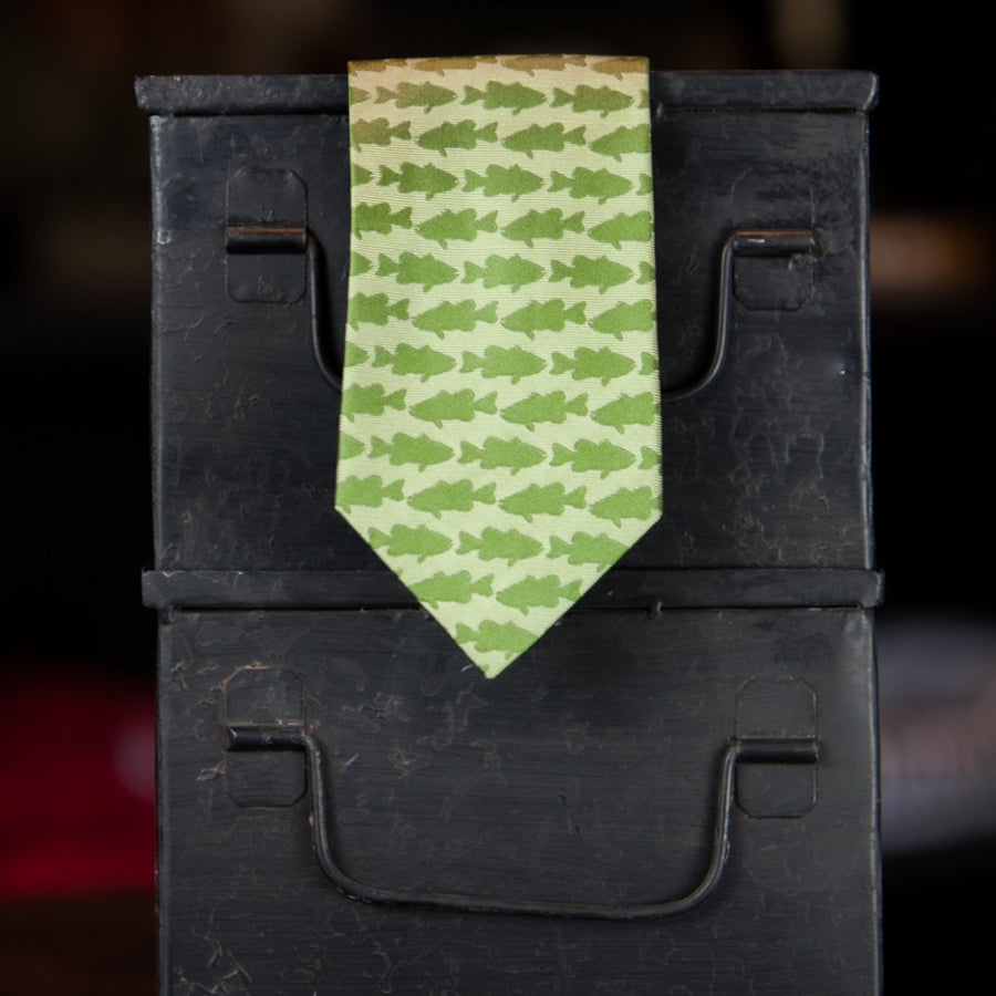 Green Bass Necktie
