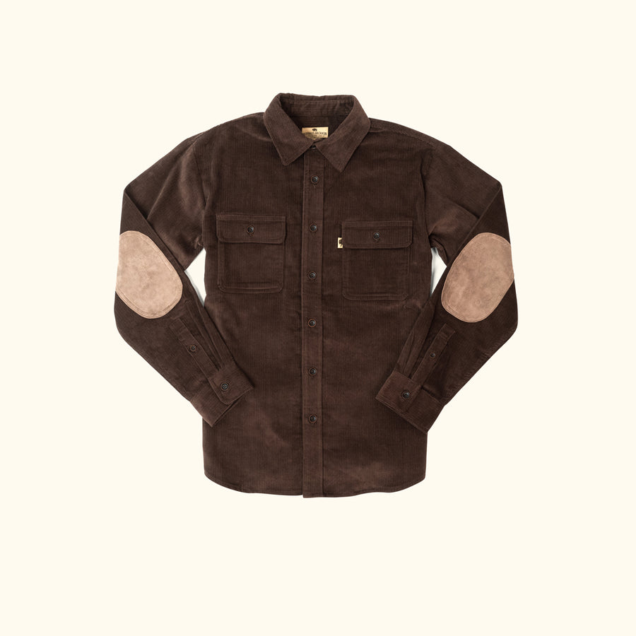 Bradford Corduroy Shirt Jac - Brown