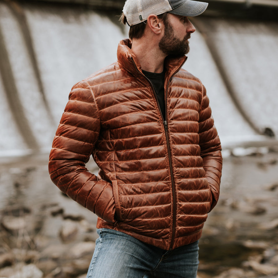 Bridger Leather Down Jacket