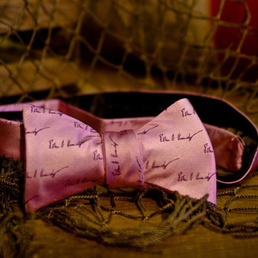 Bow Tie - John F. Kennedy Signature - Nantucket Pink