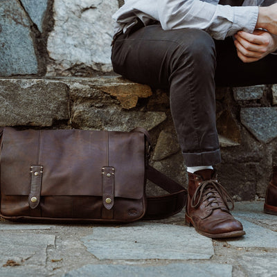 Well Made Leather Messenger Bag | Vintage Oak