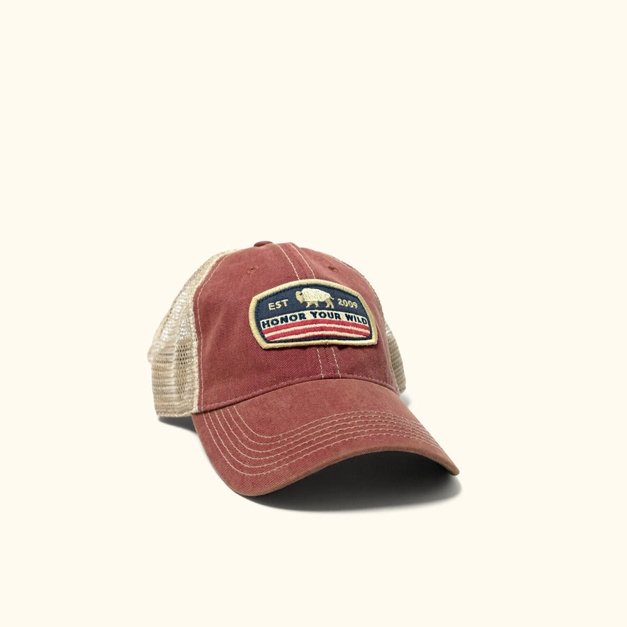 4fa29247d8b Honor Your Wild Trucker Hat - Red