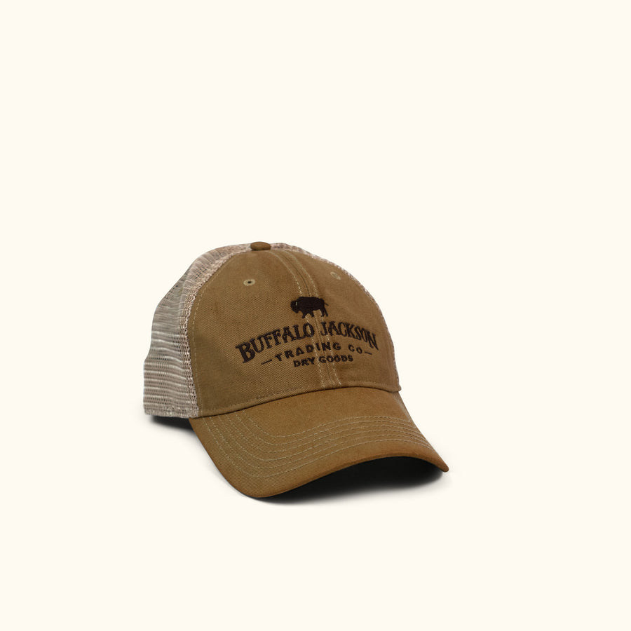 Buffalo Jackson Logo Trucker Hat - Tan