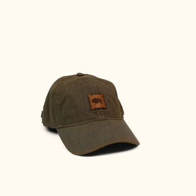 Buffalo Jackson Stamp Logo - Leather Patch Hat - Grey