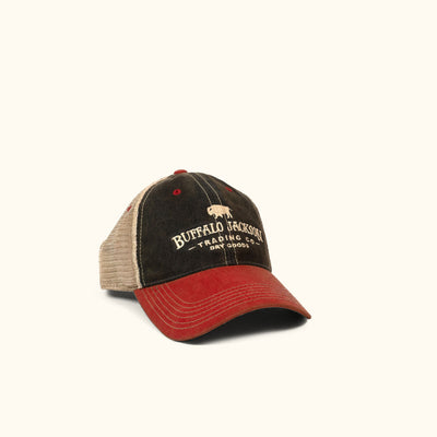 Buffalo Jackson Vintage Trucker Hat - Red/Black