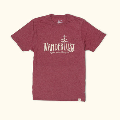 Wanderlust Graphic Tee | Burgundy