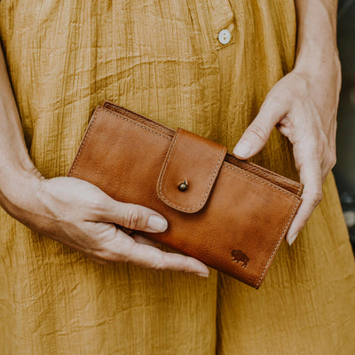 Madison Checkbook Wallet | Saddle Tan hover
