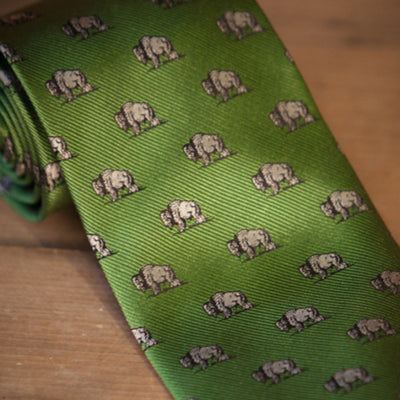 Buffalo Necktie | Grass Green