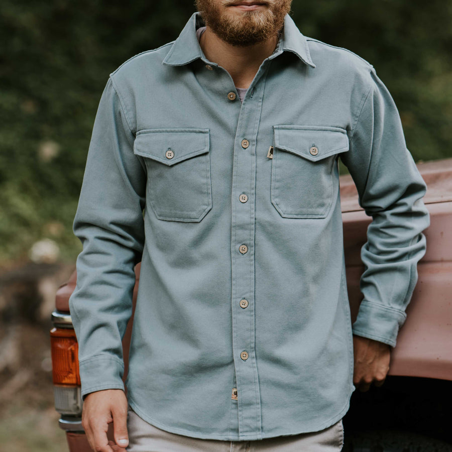 Cotton Twill Jac Shirt - Bar Harbor