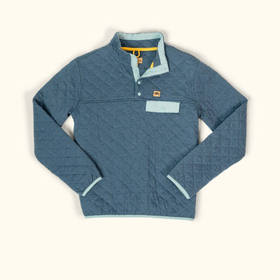 Men's Cannon Quilted Pullover - Watersprite Blue hover