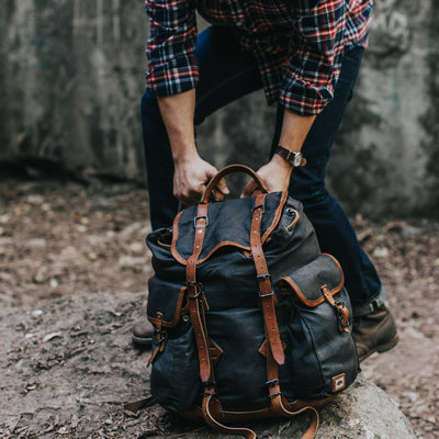Vintage Canvas Hiking Rucksack