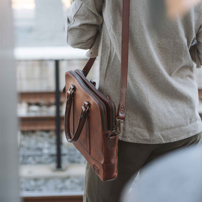Sleek Leather Attache | Elderwood hover