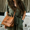 Chelsea Leather Crossbody Handbag | Honey Brown hover