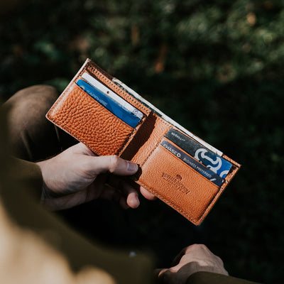 Dakota Leather Bifold Wallet | Saddle Tan hover
