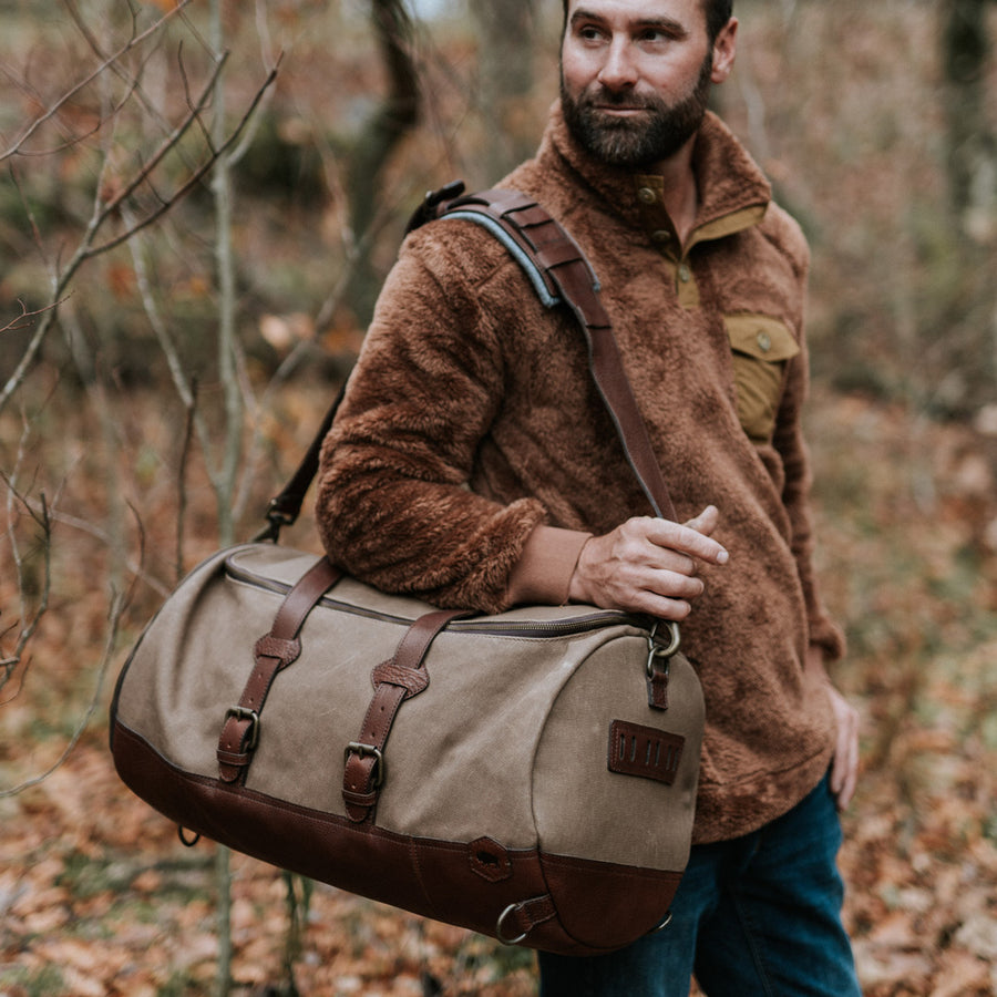 Vintage Waxed Canvas Travel Duffle