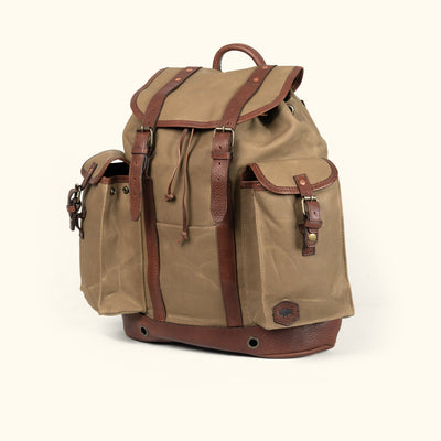 Rugged Waxed Canvas Field Khaki Rucksack