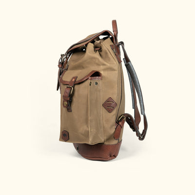 Waxed Canvas rucksack backpack field khaki