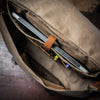 Dakota Waxed Canvas Messenger Bag | Field Khaki w/ Chestnut Brown Leather