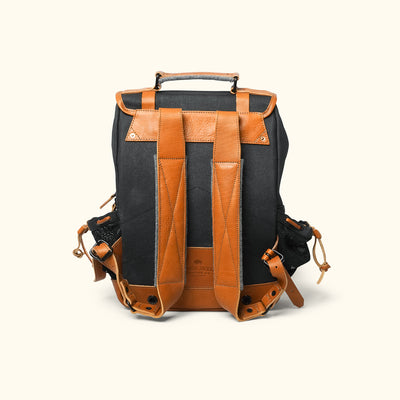 Men's Best Waxed Canvas Commuter Backpack |Navy Back