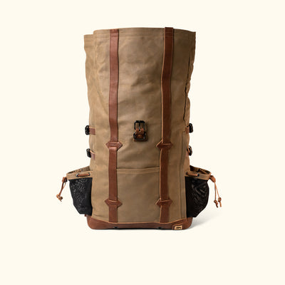 Men's Best Waxed Canvas Rolltop Backpack | Field Khaki