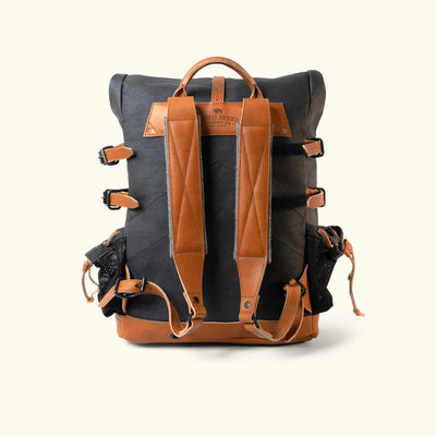 Blue Ridge Canvas Rolltop Backpack Navy back