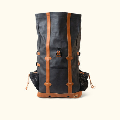 Rugged Canvas Rolltop Backpack Navy front