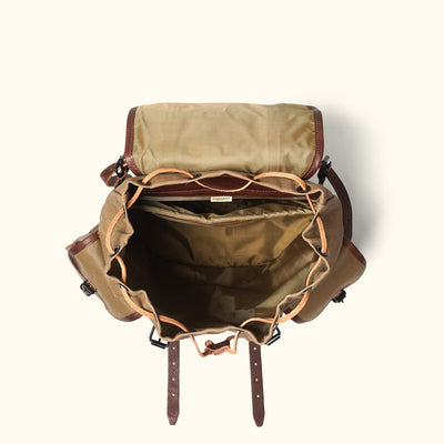 Men's Vintage Canvas Rucksack Khaki